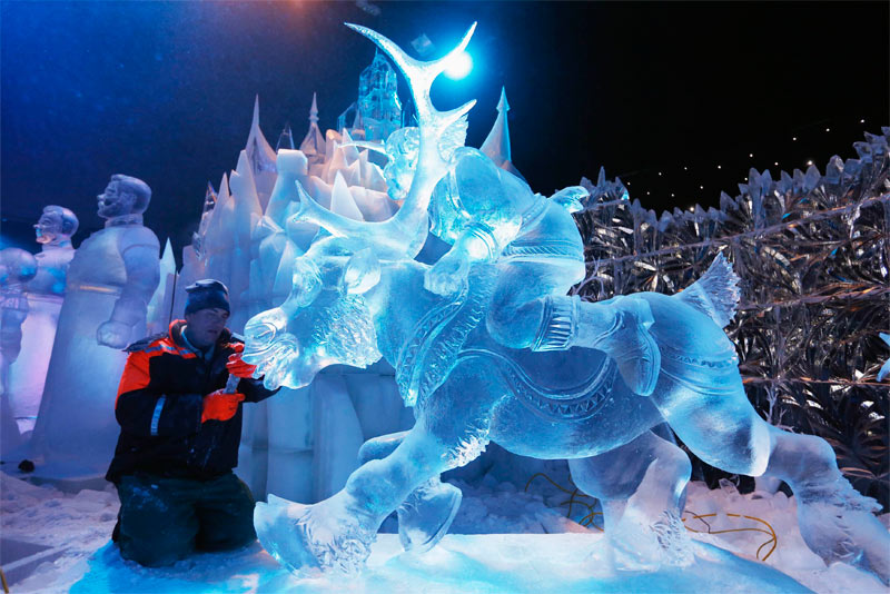 Ice Magic Eisskulpturenausstellung Linz